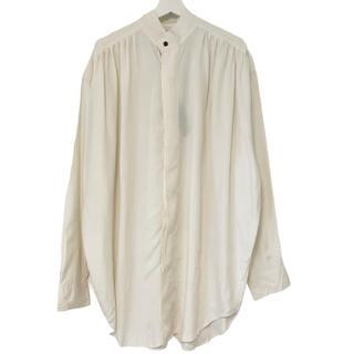 フランクリーダー(FRANK LEDER)のデッドストック 80's GOOUCH グーチ シャツ シルク ホワイト M(シャツ)