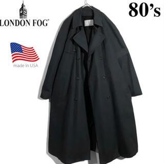 コモリ(COMOLI)の交渉あり‼ 米国製 80年代 ロンドンフォグ トレンチコート ブラック(トレンチコート)