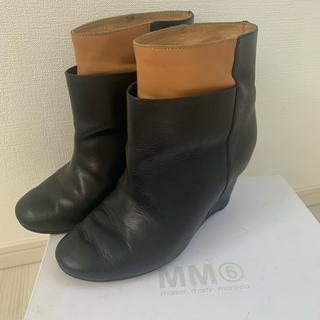 エムエムシックス(MM6)のMM6 マルジェラ ショートブーツ 36(ブーツ)