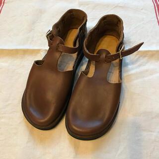 アウロラ(AURORA)のオーロラシューズ ウエストインディアン ブラウン 5 1/2 22.5㌢(ローファー/革靴)