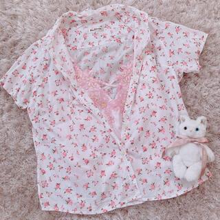 グリモワール(Grimoire)の今週限定 pink rose tops(シャツ/ブラウス(半袖/袖なし))