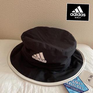 adidas - 新品/アディダスゴルフメンズバスケットハット/レインハット/帽子/黒/58cm
