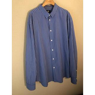 H&M オーバーサイズ ストライプシャツ
