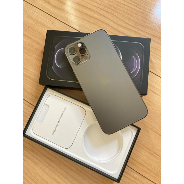 iPhone(アイフォーン)のiPhone 12 Pro 256GB グラファイト SIMフリー  スマホ/家電/カメラのスマートフォン/携帯電話(スマートフォン本体)の商品写真