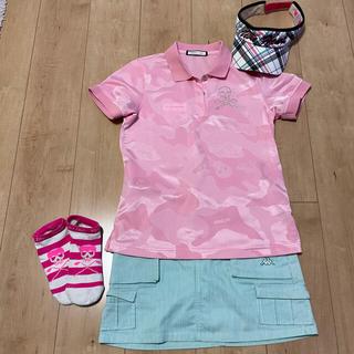 MARK&LONA - マークアンドロナ ストレッチロゴポロシャツ pink