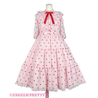Angelic Pretty - Angelic Pretty Petit Heart ワンピース ピンク