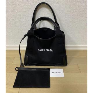 Balenciaga - バレンシアガ ネイビーカバ トートバッグ キャンバス BALENCIAGA
