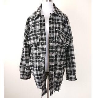 ザラ(ZARA)のZARA ツイード ジャケットシャツ XS(Gジャン/デニムジャケット)
