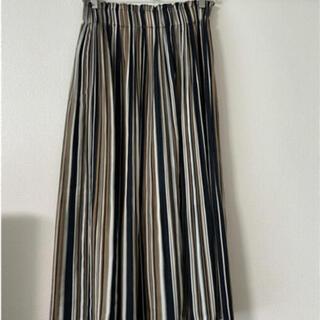 ラウンジドレス(Loungedress)のLoungedressストライプ87センチ丈(ひざ丈スカート)