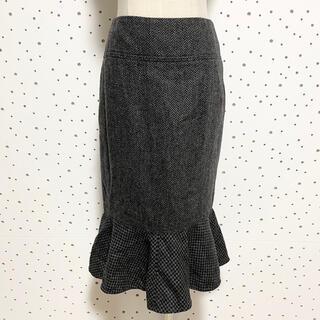 ドルチェアンドガッバーナ(DOLCE&GABBANA)の本物 ドルチェ&ガッバーナ 裾フリル ツイード マーメイド スカート ドルガバ(ひざ丈スカート)