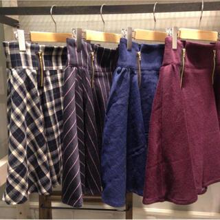 オリーブデオリーブ(OLIVEdesOLIVE)のフロントジップスカート(ひざ丈スカート)