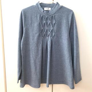 シマムラ(しまむら)の長袖 薄手ニット ブルー M(ニット/セーター)