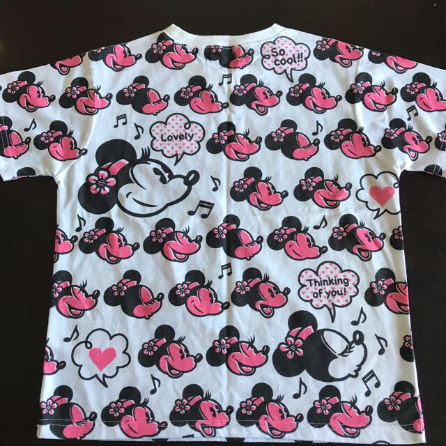 Disney(ディズニー)のお値下げ☆大人Mでも着られました  Tシャツ ディズニーリゾート 150 ミニー キッズ/ベビー/マタニティのキッズ服女の子用(90cm~)(Tシャツ/カットソー)の商品写真