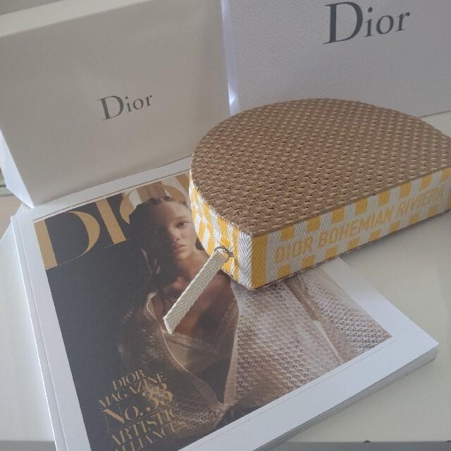 Dior(ディオール)のDior ♡オリジナルポーチ🏖️タオルヘアターバンset インテリア/住まい/日用品の日用品/生活雑貨/旅行(タオル/バス用品)の商品写真