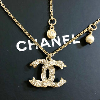 CHANEL - 正規品 シャネル ネックレス ココマーク パール 真珠 ストーン 金 リボン 石