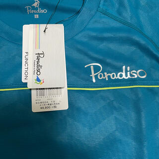 80%OFF❗️新品パラディーゾTシャツ 半袖 青 Lサイズ