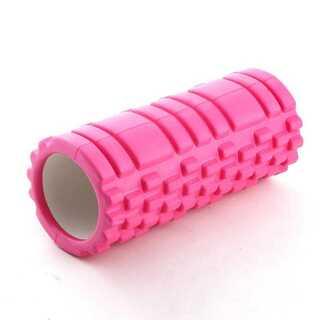フォームローラー ピンク ヨガポール 筋膜リリース マッサージローラー(ヨガ)