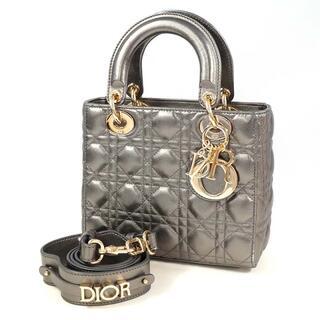 Christian Dior - Christian Dior レディディオール カナージュ メタリックグレー