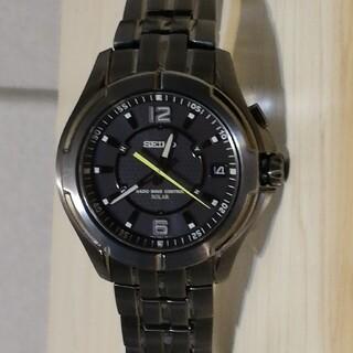 セイコー(SEIKO)のセイコー スピリット 電波ソーラー ブラックチタン(腕時計(アナログ))