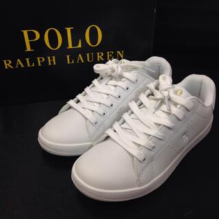POLO RALPH LAUREN - ポロ ラルフローレンシンセティックレザースニーカー 新品未使用品23㎝