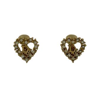 クリスチャンディオール(Christian Dior)のクリスチャンディオール ロゴ イヤリング GP 【中古】(イヤリング)