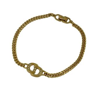 Christian Dior - クリスチャンディオール ロゴ チェーン ブレスレット GP 【中古】