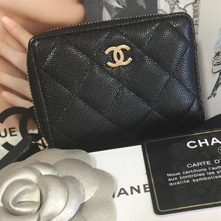 CHANEL - 新品未使用☆CHANEL キャビアスキンコインケース カードケース