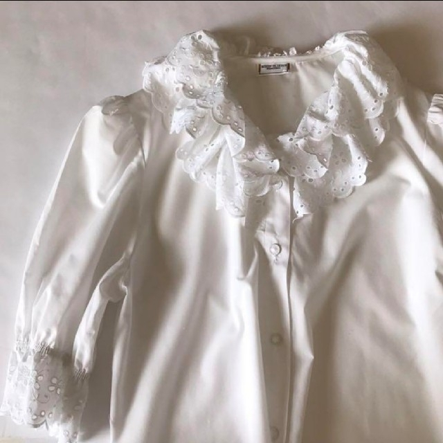 Lochie(ロキエ)のvintage フリルブラウス レディースのトップス(シャツ/ブラウス(半袖/袖なし))の商品写真