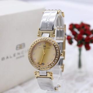 Balenciaga - 箱付き【新品電池】BALENCIAGA/動作品 ストーンベゼル 人気モデル 美品