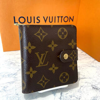 LOUIS VUITTON - 美品!ヴィトン モノグラム コンパクトジップ 折り財布