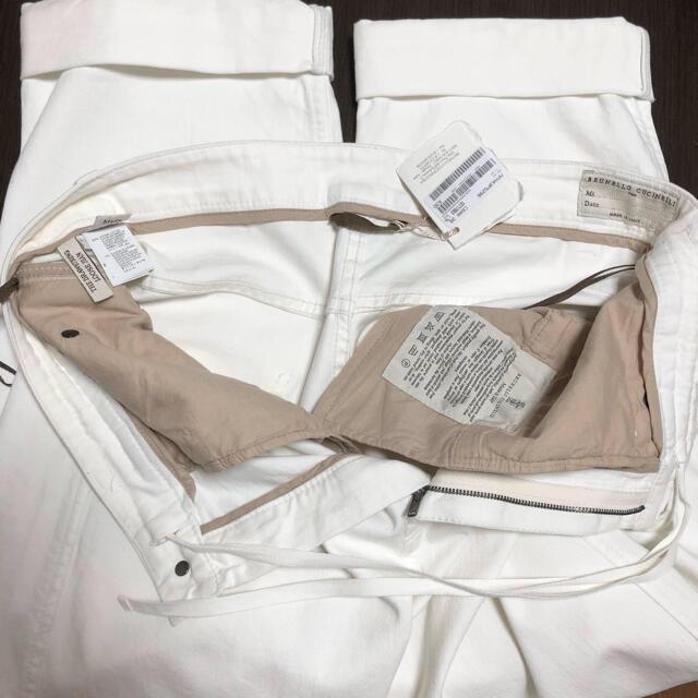 BRUNELLO CUCINELLI(ブルネロクチネリ)の新品 ブルネロクチネリ38 ゆったりめ 1819AW デニム モニーレ装飾 レディースのパンツ(デニム/ジーンズ)の商品写真