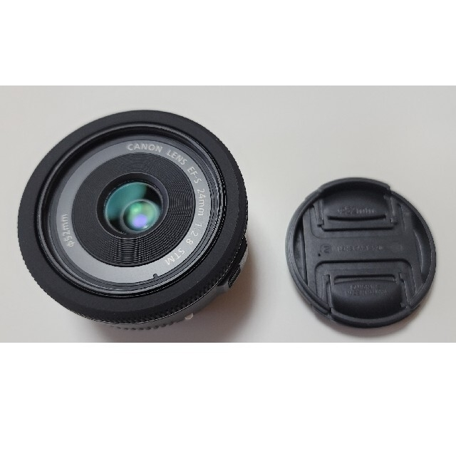 Canon(キヤノン)のef-s 24mm レンズ kenko フィルター スマホ/家電/カメラのカメラ(レンズ(単焦点))の商品写真