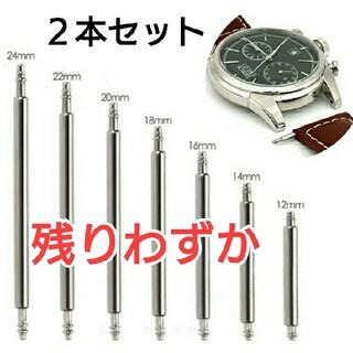 (948) 腕時計 ベルト用 バネ棒 ピン 取り付け 交換用 ステンレス 2本(その他)
