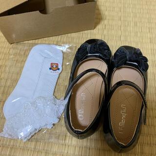 女の子用 フォーマルシューズ 靴下セット 18cm(フォーマルシューズ)