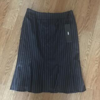 イネド(INED)のINED イネド ストライプ スーツスカート マーメイド 7号 ブラック(スーツ)