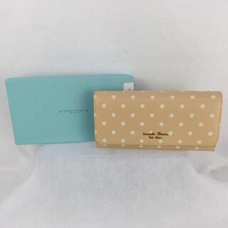 サマンサタバサプチチョイス(Samantha Thavasa Petit Choice)のサマンサタバサ プチチョイス 二つ折り長財布 ドット キャメル(財布)