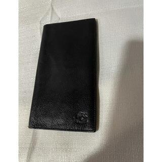 IL BISONTE - イルビゾンテの長財布札入れカード入れスリムメンズ本革レザー黒ブラック仕事ビジネス