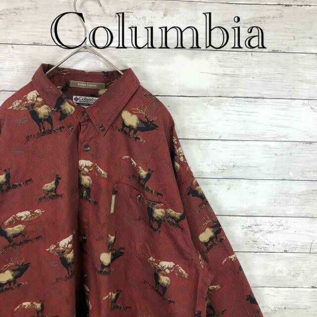 Columbia(コロンビア)の80.sコロンビア 金耳タグ 総柄アニマル柄 シカ デカシャツ メンズのトップス(シャツ)の商品写真