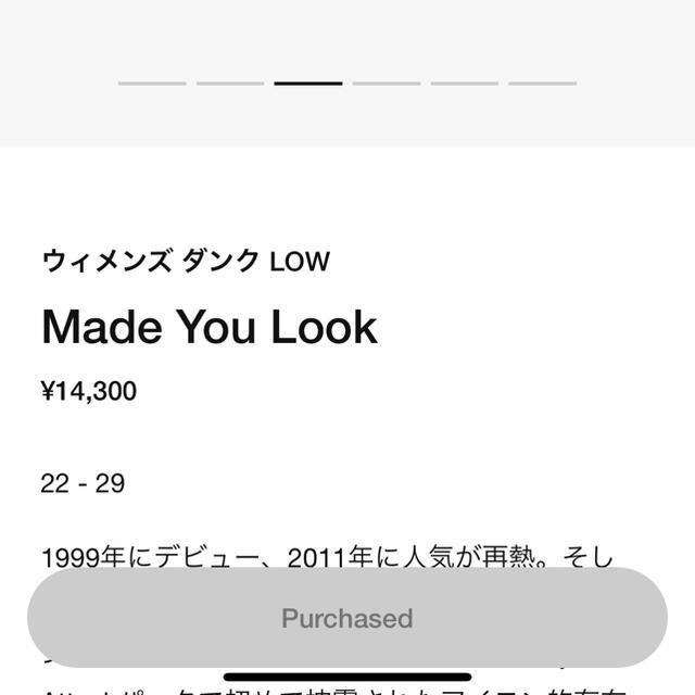 NIKE(ナイキ)のw dunk made you look 29cm メンズの靴/シューズ(スニーカー)の商品写真