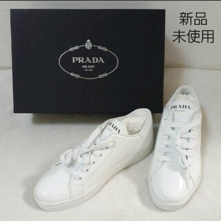 PRADA - 新品、未使用 PRADA スニーカー 白 24.5㎝