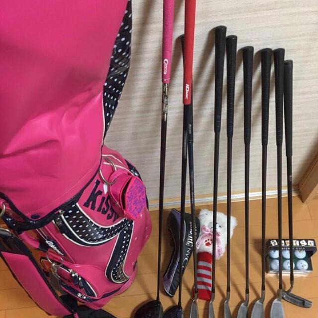 MIZUNO(ミズノ)のミズノ マクレガー レディース ゴルフ クラブ セット とkissmarkバッグ スポーツ/アウトドアのゴルフ(クラブ)の商品写真