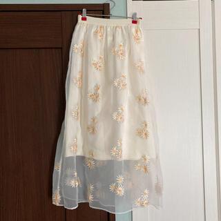 ハニーミーハニー(Honey mi Honey)のハニーミーハニー マーガレット スカート シースルー(ひざ丈スカート)