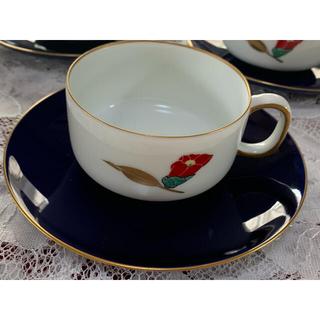 香蘭社 - 香蘭社  カップ&ソーサー  椿 瑠璃 6客セット 未使用 レア品