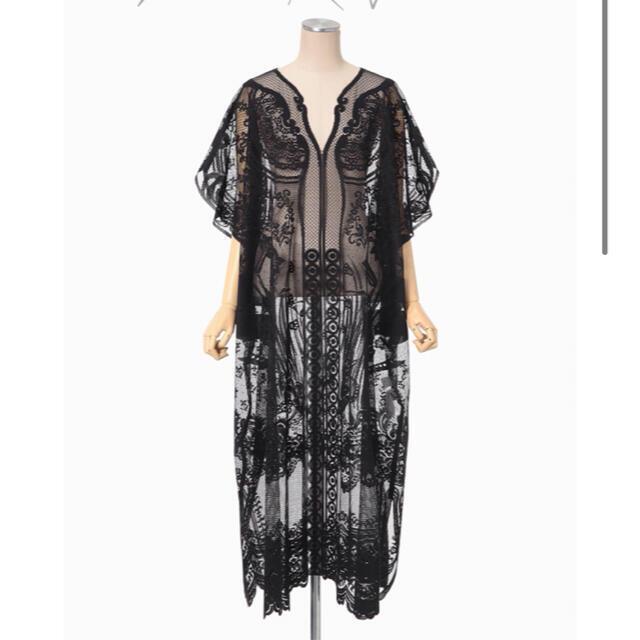 mame(マメ)の新品未使用 21SS mame Curtain Lace Dress  レディースのワンピース(ロングワンピース/マキシワンピース)の商品写真