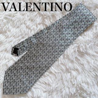 ヴァレンティノ(VALENTINO)の極美品 ヴァレンティノ ネクタイ 高級シルク ストライプ柄 刺繍 人気柄 人気色(ネクタイ)