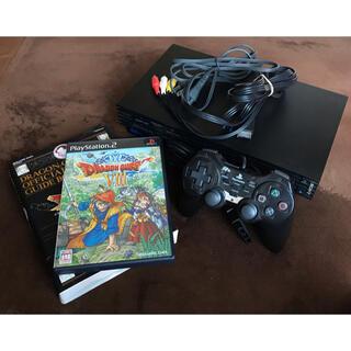 プレイステーション2(PlayStation2)のプレステ2本体+ドラゴンクエストVⅢ メモリースティック・攻略本セット(家庭用ゲーム機本体)