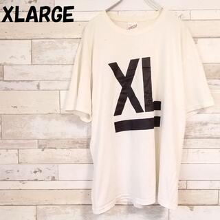 XLARGE - 【人気】エクストララージ ビッグロゴ Tシャツ ホワイト サイズL