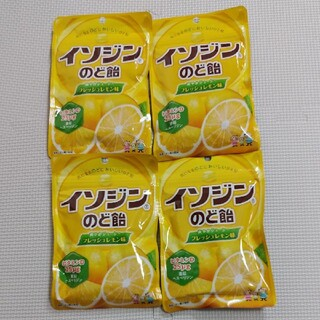 ユーハミカクトウ(UHA味覚糖)のイソジンのど飴  フレッシュレモン75gx4袋(菓子/デザート)