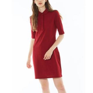 LACOSTE - ほぼ新品!ラコステワンピース スリムフィットポロシャツドレス(5分袖)