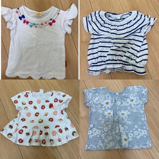 mou jon jon - 送料込み♡激安♡保育園着替え用★Tシャツ4枚セット 女の子